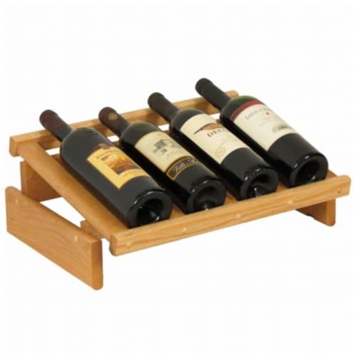 4 Bottle Dakota Wine Display Perspective: front