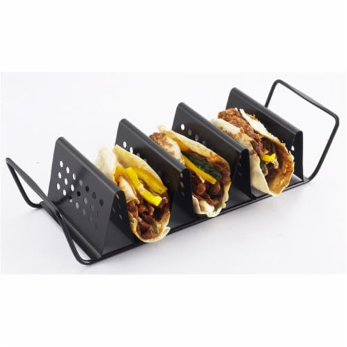 3-Taco Cooking Nonstick Grill Rack Perspective: front
