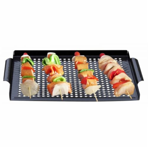 Premium Nonstick Grill Topper Grid, 16 x 12 in. Perspective: front