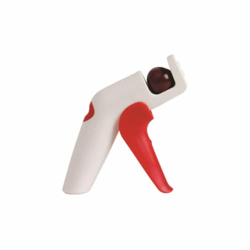QuickPit Cherry & Olive Pitter  Plastic - Red & White Perspective: front
