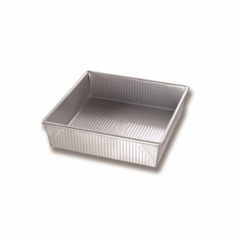9 x 9 in.  Nonstick Surface Steel Square Cake Pan 12 Cups - pack of 6 Perspective: front