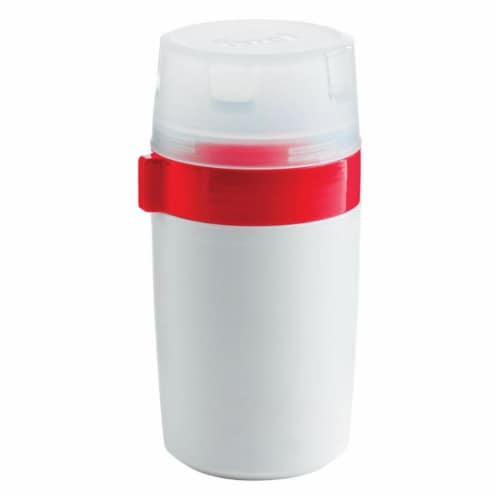 12 oz Liquid Storage Container, White Perspective: front