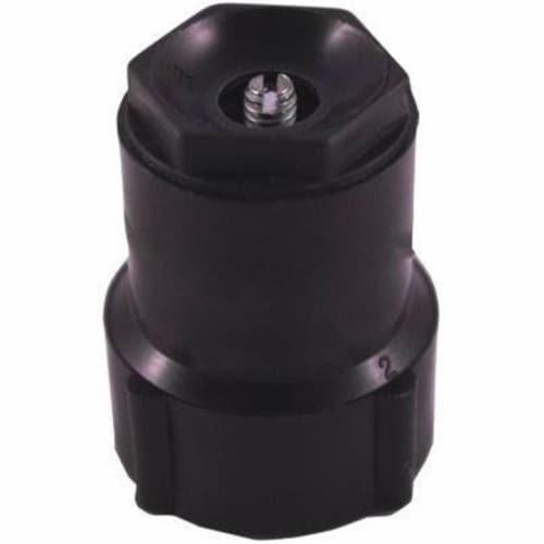 Spray Shrub Head Plastic Quarter Circle, Black Perspective: front