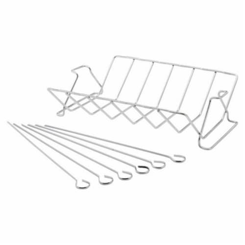 41617 Stainless Steel Rib Rack Perspective: front
