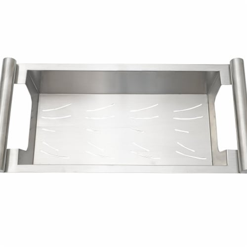 Modern Kitchen Sink Colander Fits Opening Satin Stainless, Small - 14 in. Perspective: front
