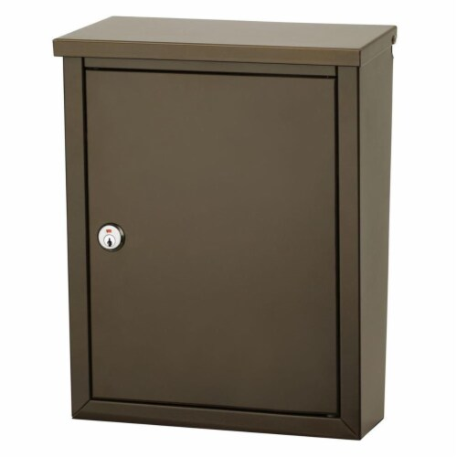 Chelsea Locking Wall Mount Mailbox in Bronze Finish Perspective: front
