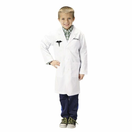 Junior Doctor Lab Coat, 0.75 - Size 4-6 Perspective: front