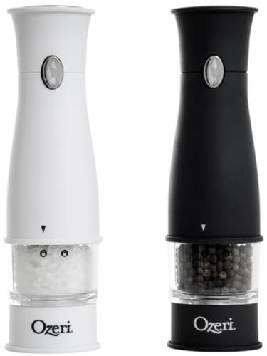Ozeri Artesio Soft Touch Electric Pepper Mill and Grinder, BPA-Free Perspective: front