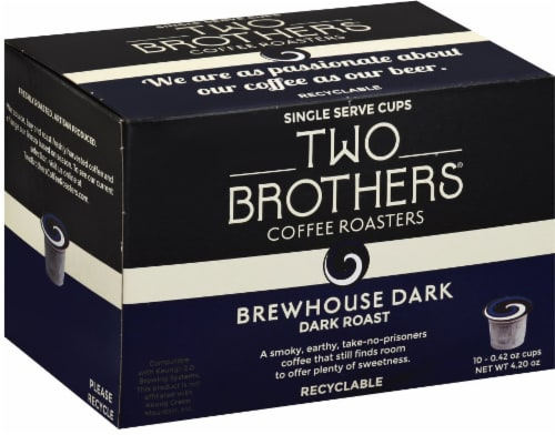 Two Brothers Brewhouse Dark Roast Coffee Single Pods Perspective: front