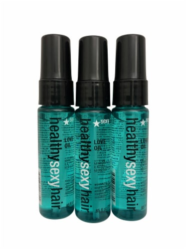 Healthy Sexy Hair Love Oil Trio .85 OZ Each Perspective: front