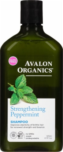 Avalon Organics Strengthening Peppermint Shampoo Perspective: front