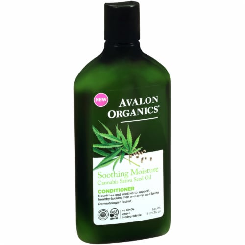 Avalon Organics Soothing Moisture Cannabis Sativa Seed Oil Conditioner Perspective: front
