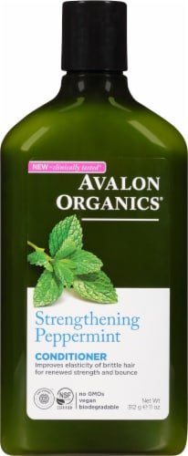 Avalon Organics Strengthening Peppermint Conditioner Perspective: front