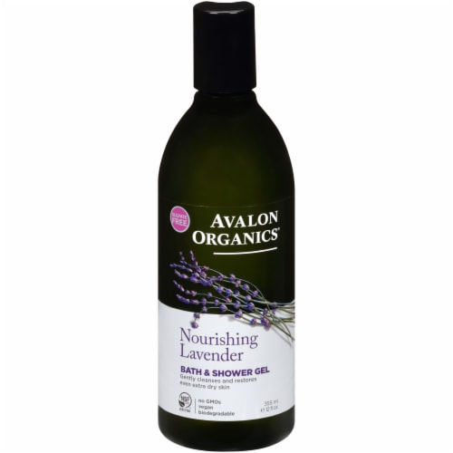 Avalon Organics Lavender Bath & Shower Gel Perspective: front