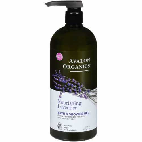 Avalon Organics Nourishing Lavender Bath & Shower Gel Perspective: front