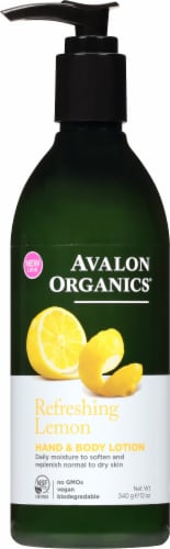 Avalon Organics Lemon Lotion Perspective: front