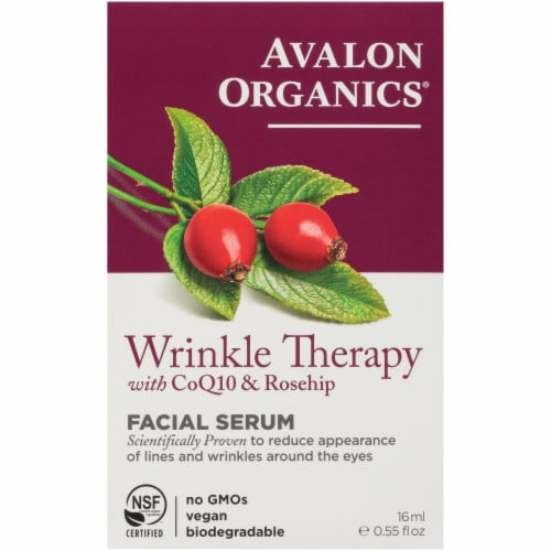 Avalon Organics Wrinkle Therapy Facial Serum Perspective: front