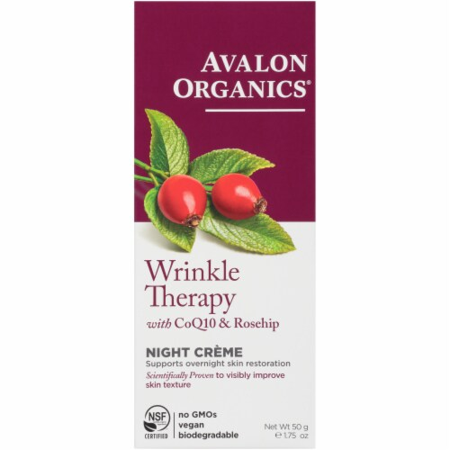 Avalon Organics Wrinkle Therapy With CoQ10 & Rosehip Perspective: front