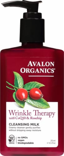 Avalon Organics® Wrinkle Therapy Cleansing Milk Perspective: front
