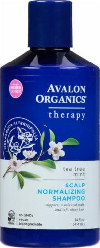 Avalon Organics Tea Tree Mint Shampoo Perspective: front