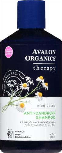 Avalon Organics Medicated Anti-Dandruff Shampoo Perspective: front