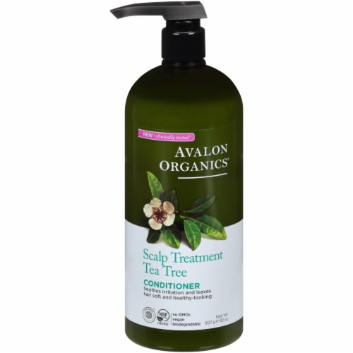 Avalon Organics Scalp Treatment Tea Tree Conditioner Perspective: front