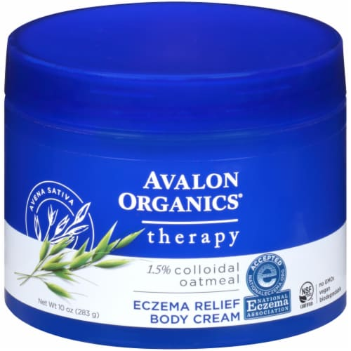 Avalon Organics Colloidal Oatmeal Therapy Eczema Relief Body Cream Perspective: front