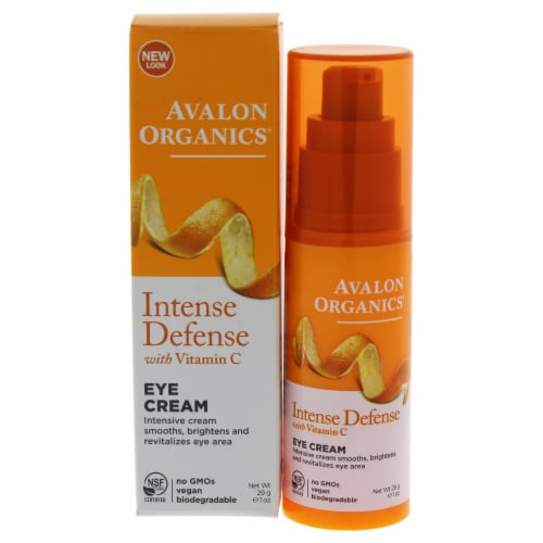 Avalon Organics Intense Defense Vitamin C Eye Cream Perspective: front