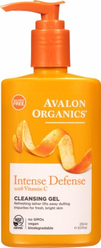 Avalon Organics Intense Defense with Vitamin C Cleansing Gel Perspective: front