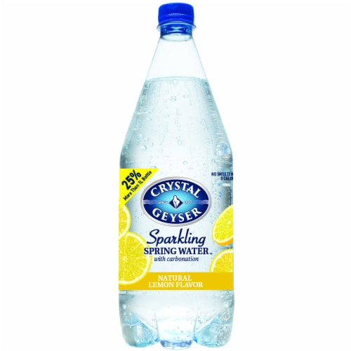 Crystal Geyser Sparkling Water with Lemon Perspective: front