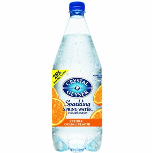 Crystal Geyser Orange Sparkling Mineral Water Perspective: front