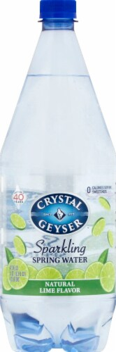 Crystal Geyser Lime Sparkling Mineral Water Perspective: front
