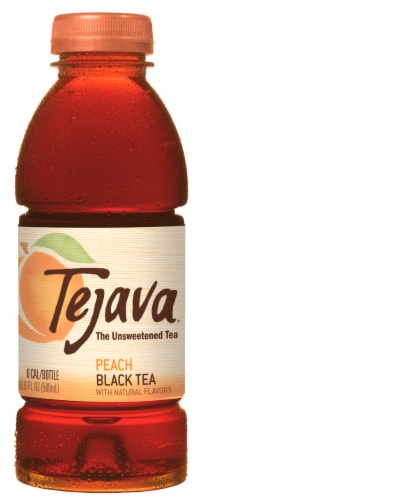 Tejava Unsweetened Peach Black Tea Perspective: front