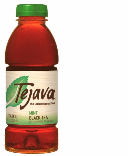 Tejava Unsweetened Mint Black Tea Perspective: front
