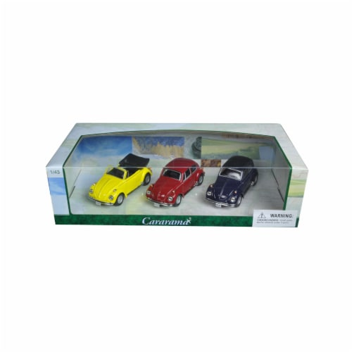 Cararama 35309 1 by 43 Diecast Volkswagen Beetle 3pc Gift Set Model Cars Perspective: front