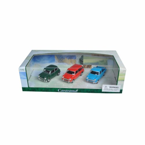 Cararama 35310 1 by 43 Diecast Mini Cooper 3pc Gift Set Model Cars Perspective: front