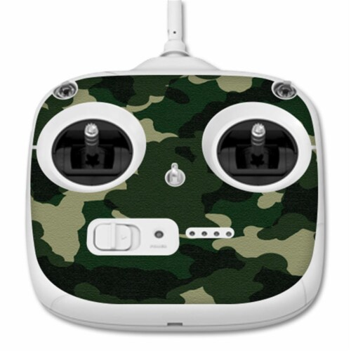 MightySkins DJPH3STACO-Green Camo Skin for Dji Phantom 3 Standard Quadcopter Drone Controller Perspective: front