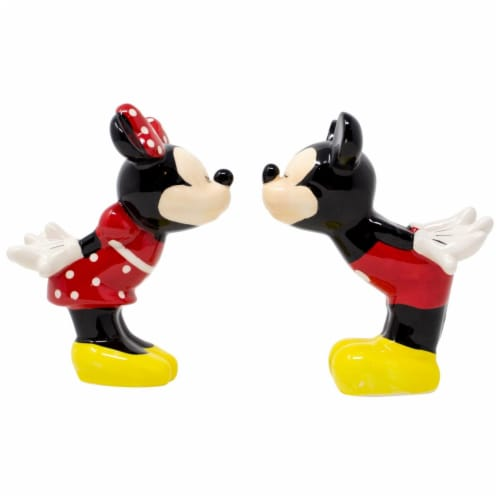 Mickey Mouse 802341 Disney Mickey & Minnie Kissing Salt & Pepper Shakers Perspective: front