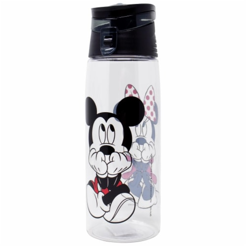 Disney 802355 Disney Mickey & Minnie Mouse Flip Top Water Bottle Perspective: front