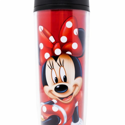 Mickey Mouse 805668 Disney Minnie Mouse Polka Dots Travel Mug Perspective: front