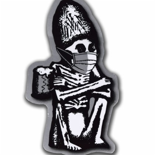 Rogue Ales 812597 Dead Guy Ale Covid-19 Face Mask Sticker Perspective: front