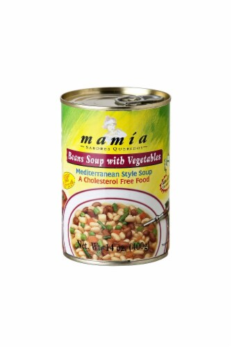 Mamia Beans Soup with Vegetables Perspective: front