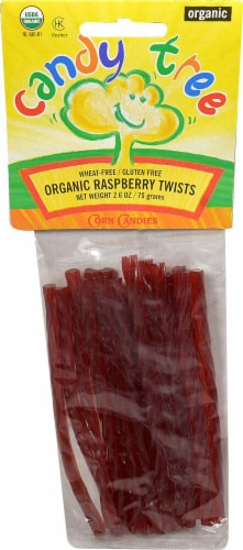 Candy Tree Organic Twists Raspberry Perspective: front