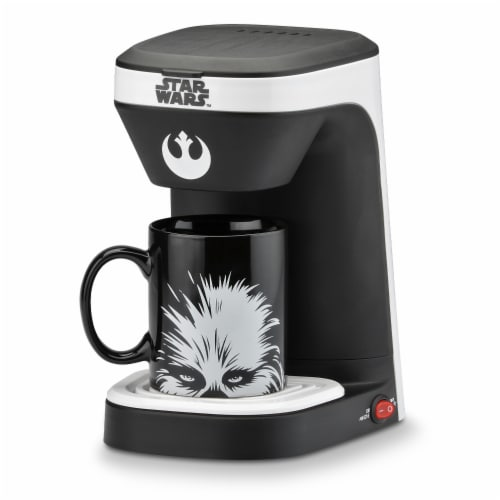 Select Brands Star Wars Chewie 1-Cup Coffee Maker with Mug - Black/White Perspective: front