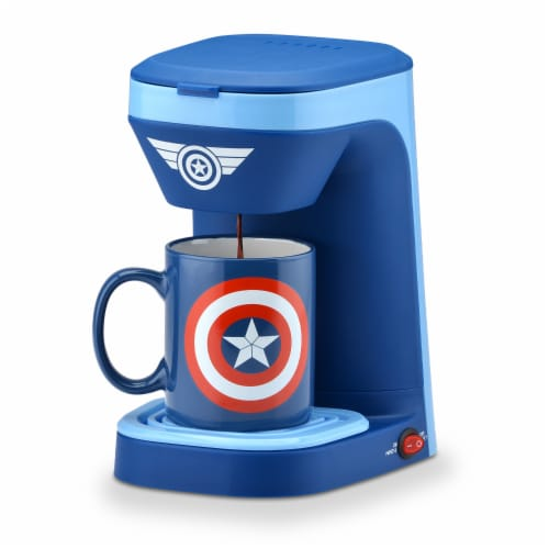 Marvel Captain America Coffee Maker & Mug Perspective: front