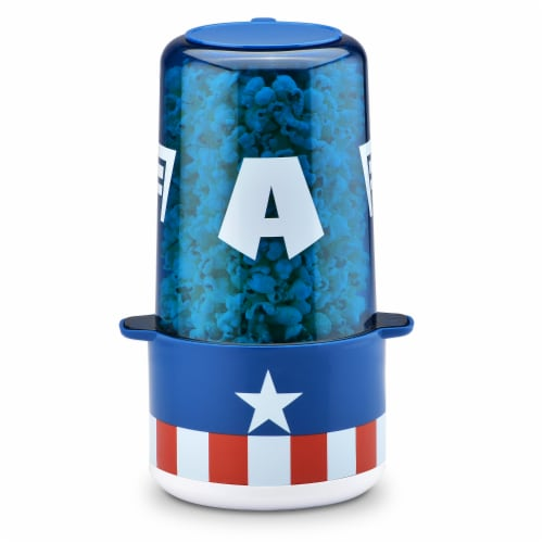 Marvel Captain America Popcorn Maker with Measuring Cup & Scoop Perspective: front