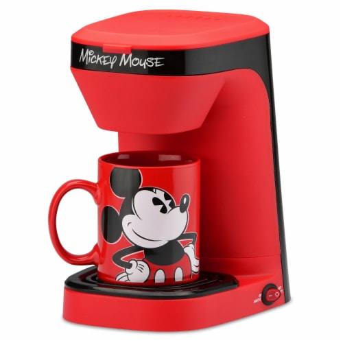 Select Brands Disney Mickey Mouse 1-Cup Coffee Maker with Mug Perspective: front