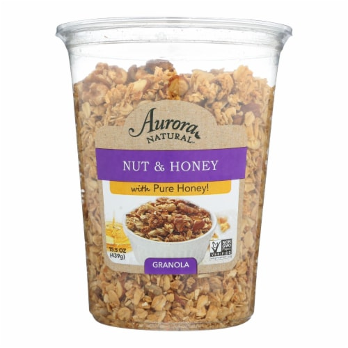 Aurora Natural Products - Nuts and Honey Granola - Case of 12 - 15.5 oz. Perspective: front