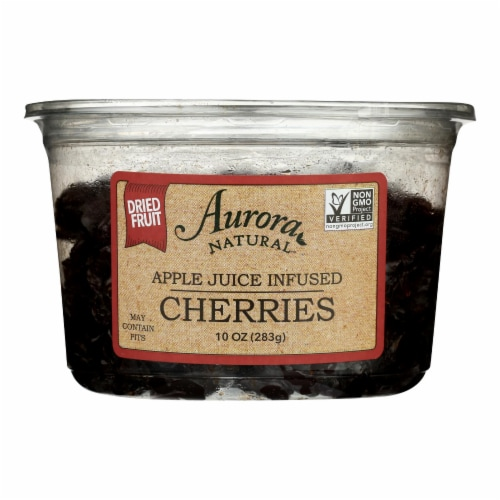 Aurora Natural Products - Apple Juice Infused Cherries - Case of 12 - 10 oz. Perspective: front