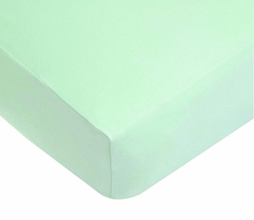 American Baby 100% Cotton Knitted Jersey Crib Sheet - Mint Perspective: front